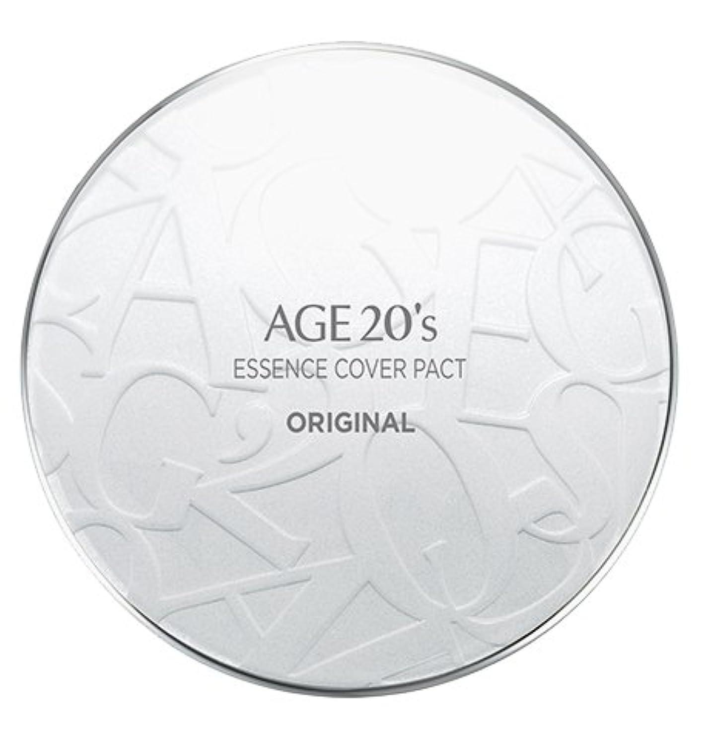 ジェスチャー真珠のような待ってAGE 20's Essence Cover Pact Original [White Latte] 12.5g + Refill 12.5g (#21)/エイジ 20's エッセンス カバー パクト オリジナル [ホワイトラテ] 12.5g + リフィル 12.5g (#21) [並行輸入品]