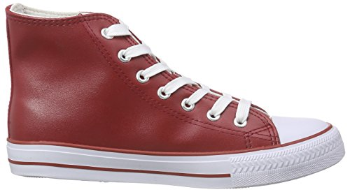 Nebulus Damen Voll-Leder-Evo High-Top, Rot (Red), 38 EU
