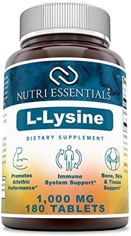Nutri Essentials L-Lysine 1000 mg 180 Tablet