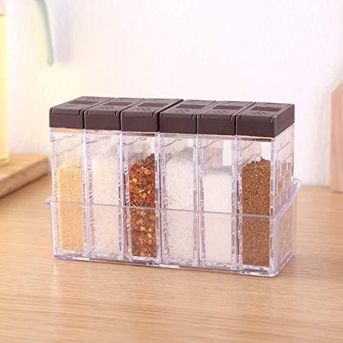 (OrchidAmor Creative Open Condiment Box Transparent Salt Spice Storage Container Seasoning 2019 New Fashion)