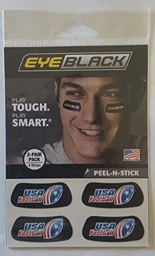 Eye Black USA Football 2-pair pack (4 Strips) (Football Eye Under)