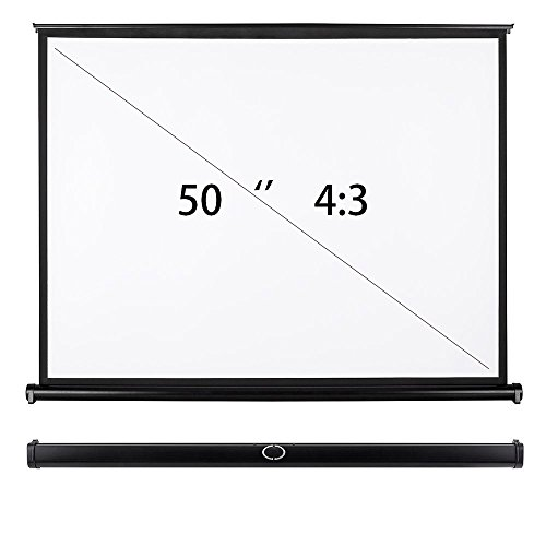 CHEERLUX Ultra Portable ProjectorTabletop Projection Screen 50'' 4:3 For DLP Projector , Mini Projector,Home and Office Business Meeting With Carrying Bag by Cheerlux (Image #1)
