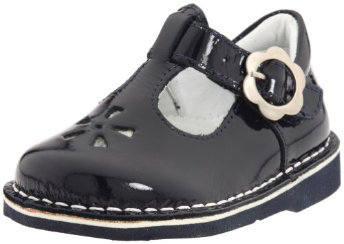 Kid Express Molly T-Strap, Navy Patent, 24 W EU ( 8-8.5 W US Toddler) - Kid Express Leather Mary Janes