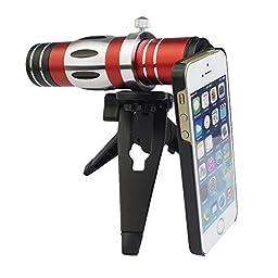 Apexel 18x Zoom Telephoto Lens/ 150x Super Macro Lens for iPhone 5/5s