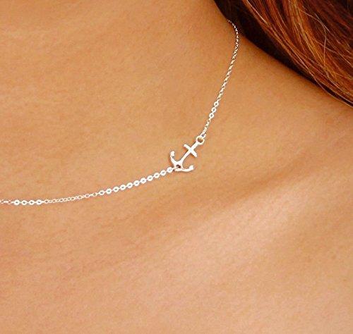 Sideways Necklace Delicate Pendant Nautical product image