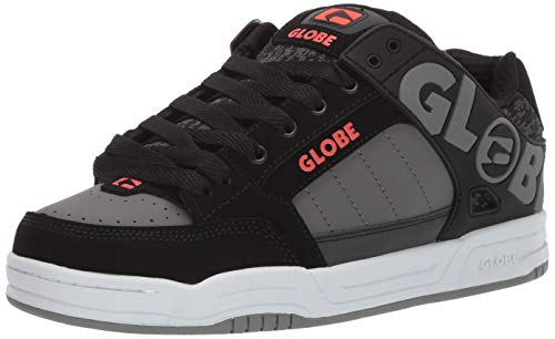 Globe Men's Tilt Skate Shoe Black/red/Grey Knit 10 M US