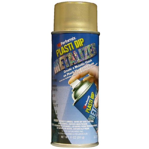 Performix 11211-6PK Plasti Dip Enhancer Gold Metalizer Aerosol - 11 oz., (Pack of 6) by PERFORMIX