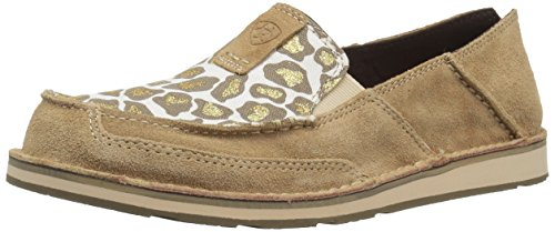 Taupe Leopard - Ariat Women's Women's Cruiser Slip-on Shoe Sneaker, Dirty Taupe Suede/sparklin' Leopard, 6 B US