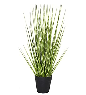 Artificial Plant Green Grass PVC with Plastic/Metal/Metal Pot for Home Decor