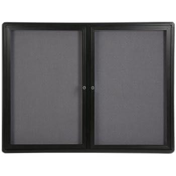 Amazon.com : Displays2go Bulletin Board with Swing-Open Locking Door ...
