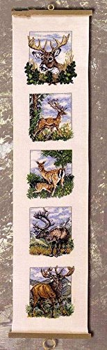 5 kinds of deers counted cross stitch kits 94x498 stitch 27x100cm counted deer cross stitch kits sweet home 0274