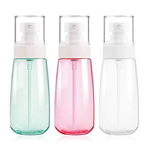 Fine Mist Spray Bottle 3.4oz/ 100ml Empty Cosmetic Refillable Travel Containers Plastic Hair Spray Bottle Sprayer for Perfume Skincare Makeup Lotion 3 Pack (Best Bottles That Don T Leak)