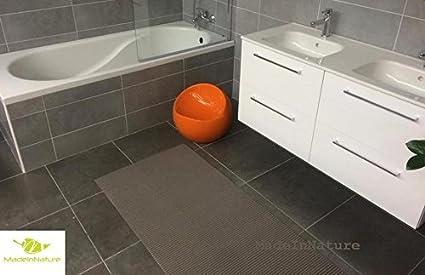 Tapis multi usages décosoft dimensions et couleurs au choix, Idéal pour  cuisine, évier, salle de bain, couloir, placard (65x1 000cm, Gris taupe)