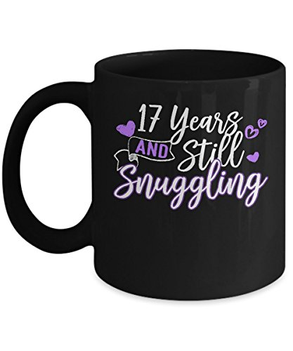 Funny Snuggle Mug For Couples-Best 17 Year Anniversary Gifts For Men/Women