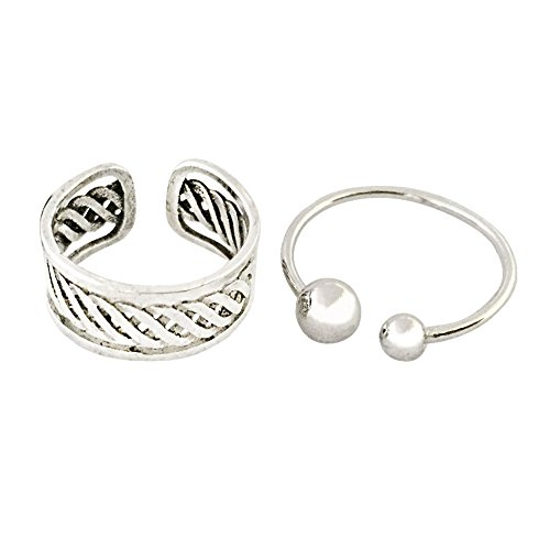 MA&SN 2pcs Rings Sterling Silver Rings Jewelry Set For Women (Ma Na Halloween)