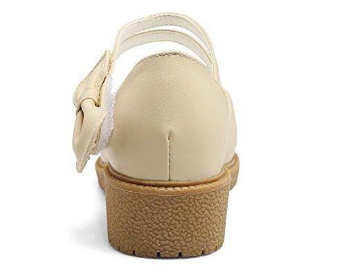toe Mini Heel Open Women cinturino con in Sandali velcro Aalardom SgwIqx
