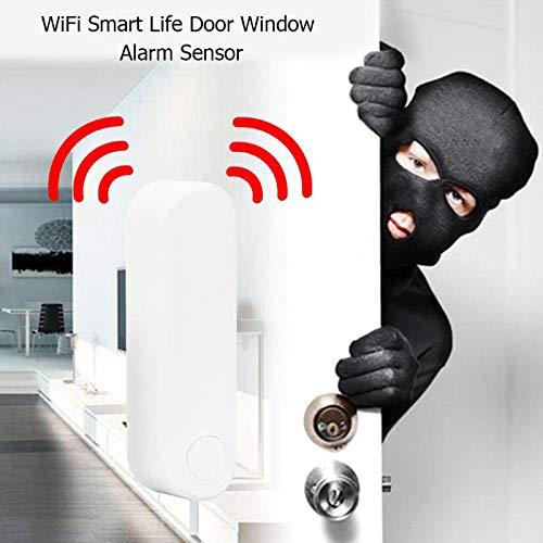 TOOGOO Cargador Inteligente de Seguridad para el Hogar Alarma Inal/áMbrica de Puerta Sensor de WiFi para Tuya Smart Life IFTT  Alexa Control de la Aplicaci/óN