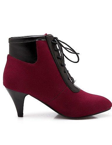 épaisse décontracté Femme Talon Chaussures Mode Bout Citior pour red Femme Pointu pour Bottes Bottes en Polaire Chaussons Chaussons aAz4FBn