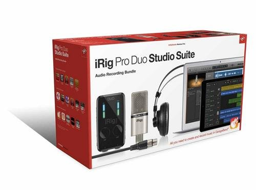 Garageband Cable Xlr Microphone (IK Multimedia iRig Pro Duo Studio Suite complete recording bundle for iPhone, iPad & Mac/PC)