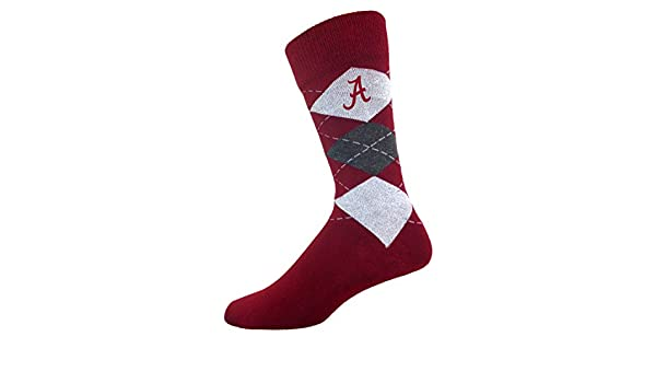 8bc23e0055bd Amazon.com  For Bare Feet Alabama Crimson Tide Argyle Crew Socks Socks Shoe  size 9-12 NCAA LICENSED  Clothing