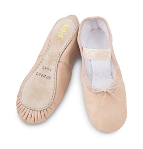 10b size ballet leather pink shoes on elastic bloch xXUfAPqw6