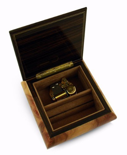 Astounding 30 Note Wedding Rings on Ring Bearer Pillow Music Jewelry Box - Scarborough Fair by MusicBoxAttic (Image #1)