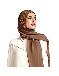 Voile Chic Mocha Brown Premium Chiffon Hijab (Non-Slip)