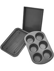 Chicago Metallic Professional 4-Piece Non-Stick Toaster Oven Bakeware Set