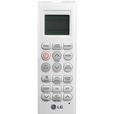 LG PQWRHQ0FDB IR inalámbrico Botones Blanco - Mando a distancia (Aire Acondicionado, IR inalámbrico, Botones, Pantalla incorporada, Blanco)