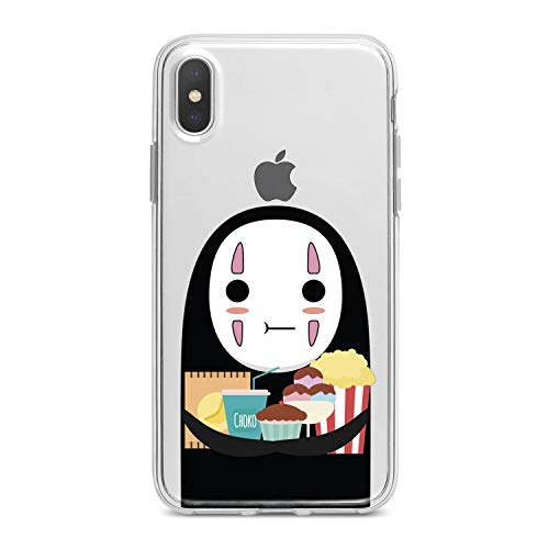 (Lex Altern TPU Case for iPhone Apple Xs Max Xr 10 X 8+ 7 6s 6 SE 5s 5 No Face Print Clear Cartoon Design Anime Soft Boy Cover Woman Flexible Gift Spirited Away Smooth Food Lightweight Kawaii Slim fit)