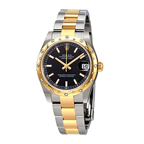 Rolex Datejust Lady 31 Black Dial Stainless Steel and 18K Yellow Gold Oyster Bracelet Automatic Watch 178343BKSO