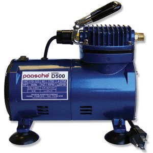 Paasche Airbrush D500 1/10 H.P. Air Compressor with, used for sale  Delivered anywhere in USA