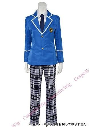 b9540d4c42230 男子 アイドル アンサンブル 制服 コスチューム 上下セット コスプレ 衣装 (L)