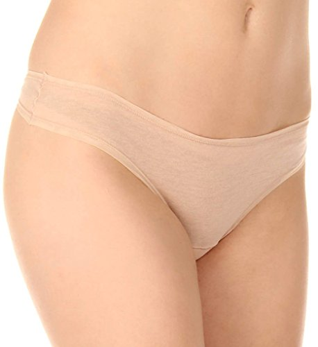 Fine Lines Pure Cotton Thong, XL, Skin