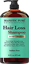Majestic Pure Hair Loss Shampoo, Offers Natural Ingredient Based Effective Solution, Add Volume & Strengthen Hair, Sulfate Free, 14 Dht Blockers, For Men & Women - 16 Fl Oz