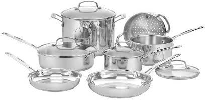Cuisinart 77-11G Chef s Classic Stainless 11-Piece Cookware Set
