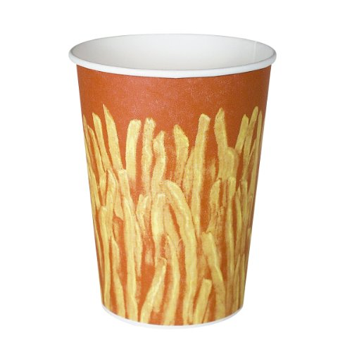 Solo GRS32-00021 Claycoat Paper French Fry Cup, 32 oz. Ca...