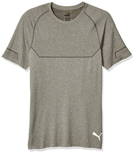 Puma Running Tee - PUMA Men's Energy Seamless Tee, Medium Gray Heather, X-Large