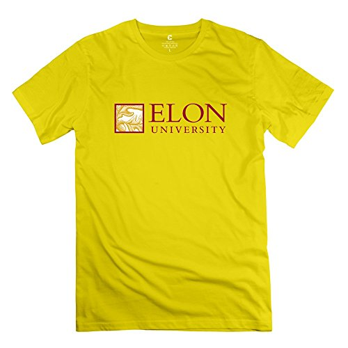 Yellow VAVD Man's Elon University Short Sleeve T-shirt Size ()