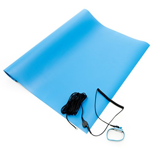 Strap Vinyl 2.5' (Bertech ESD Three Layer Vinyl Mat Kit with a Wrist Strap and Grounding Cord, 2.5' Wide x 4' Long x 0.093
