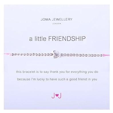 A Little Friendship Heart Bracelet By Joma Jewellery Grey SE5AexpfjZ