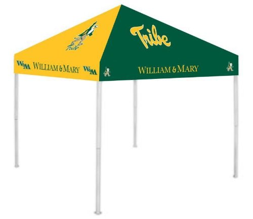 Rivalry NCAA William & Mary Tribe 9' x 9' Canopy, Large, White