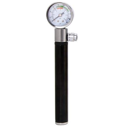 Portable Bicycle Pump W//Gauge High Pressure Meter Shock Hand Bike Air Inflator