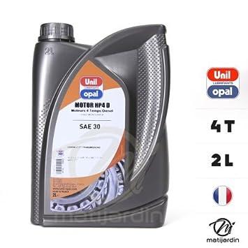 Aceite de motor 4 tiempos Unil Opal hp4d. SAE30. 2 litros - Pieza ...