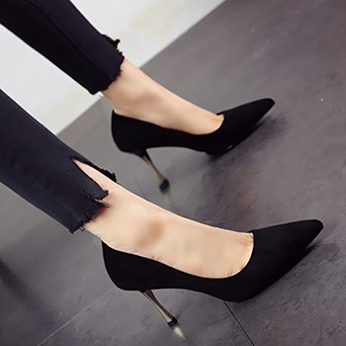 b zapatos parte europeo sexy fuerte simple y moda simple Zapatos Zapatos simple altos Primavera tacones otoño y FLYRCX 8TqCBgq
