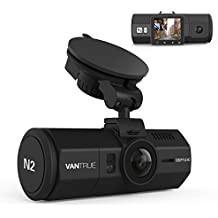 "Vantrue N2 Dual Dash Cam-1080P Front and Rear Dual Lens Dash Camera 1.5"" Near 360° Wide Angle Car Dashboard Camera Video Recorder w/ Parking Mode, Motion Detection, Front Camera Night Vision Effects"