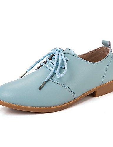 Njx Damen Damen Damen Schuhe Leder Frühling Sommer Herbst Winter Komfort Casual Flache Absatz Schnürer blau braun Rosa weiß beige B01KHBQK82 Schnürhalbschuhe Feinbearbeitung 7d23f1
