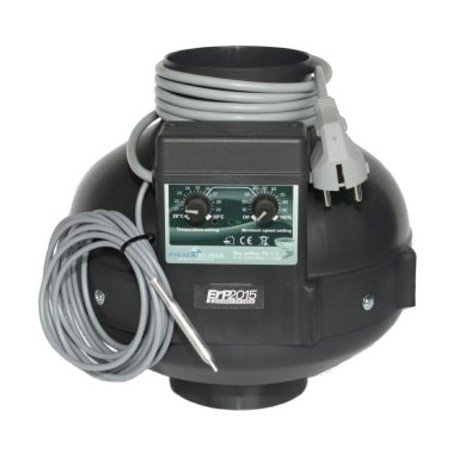 RVK Prima Klima Rohrventilator 400 m³/h 125mm mit Temperaturkontrolle (PK125)