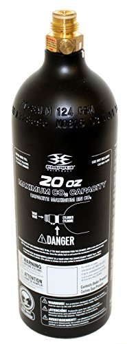 Trinity Co2 Aluminum Black Paintball Tank W Pin Valve - 20 Oz by Trinity