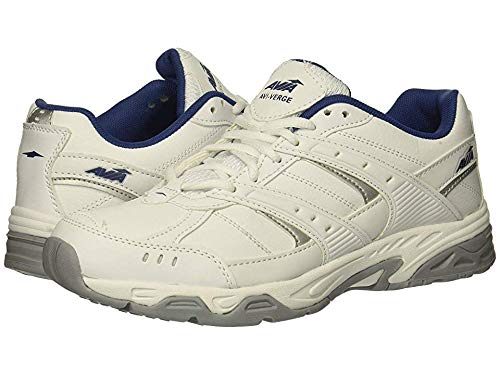 - Avia Women's Avi-Verge Sneaker, Bright White/Bijou Blue/Silver/Alloy, 7.5 Wide US